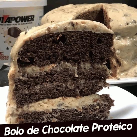 Receita Bolo de Chocolate Proteico