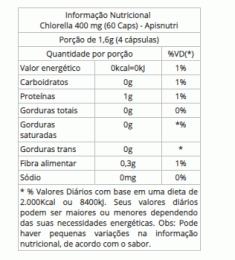 Chlorella 400 mg (60 Caps)